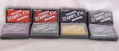 MessageStor Stamps Etc Pigment Ink Set 8 Stamp Pad Acid Free Archival Non-fading #MessageStor