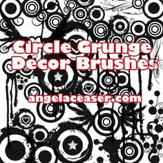 Cool Grunge Cirle Decor Brush Demo by AngelaDesigns. A grunge circle decor set made by AngelaDesigns. Download the complete set and more brushes and freebies at myworldofdesign.com and/or angelaceaser.com  #circle #circles #dark #decor #Decorative #grunge #grungy #round #shape #urban Check more at http://psdfinder.com/free-psd/grunge-cirle-decor-brush-demo-by-angeladesigns