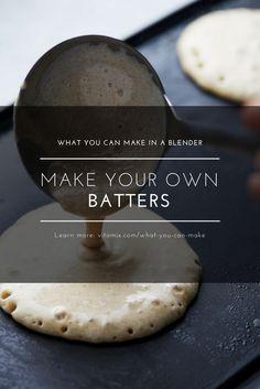 Make Batter in Your Vitamix Blender (Blender Muffin Life) Ninja Blender Recipes, Ninja Recipes, Juicer Recipes, Chef Recipes, Vegan Vitamix Recipes, Recipies, Smoothie Proteine, Smoothie Recipes, Smoothie Cleanse