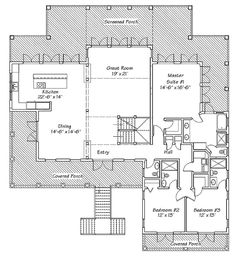Plan W13125FL: Floor 1 - Plentiful views and access to the outside, including from the bathroom. This plan also includes plentiful parking for homeowners and guests.