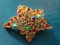 Art Star Brooch with Various Color Rhinestones and Cabochons | eBay