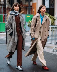 WEBSTA @nordicstylereport @briesarawelch and @anninamislin 🚶🏽‍♀️🚶🏽‍♀️| Photo by @styledumonde | @rosettagetty