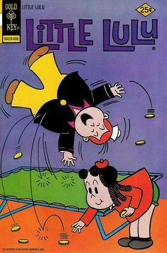 Cover for Little Lulu (Western, 1972 series) [Gold Key Variant] Vintage Comic Books, Vintage Comics, Magazines For Kids, Comic Covers, Book Covers, Classic Comics, Music Film, Tv Guide, Cute Little Girls
