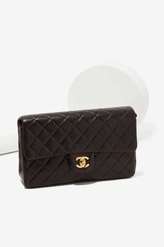 Vintage Chanel Quilted Black Leather Bag | Shop Chanel at Nasty Gal