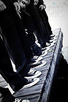 Wedding Photography.  Wedding Shoes. Groom.  Groomsmen. Converse.