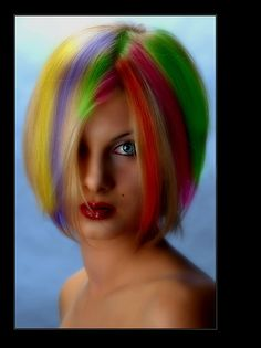 wow. crazy hair. I know a few people who would do this!