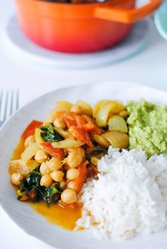 caril de grão e espinafres | chickpeas and spinach curry