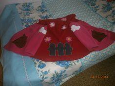 Zipfelmützen Jacke für ein kleines Mädchen alles selbst genäht