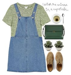 """""""cup of rain"""" by evangeline-lily ❤ liked on Polyvore featuring Monki, Officine Creative, Marni, Menu, marni and spring2016"""