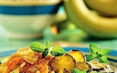 Riso al curry con banane, mandorle e zucchine. #riso #al #curry #con #banane #mandorle