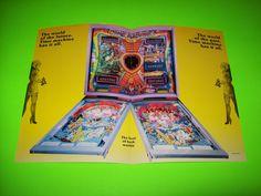 TIME MACHINE By ZACCARIA 1983 ORIGINAL PINBALL MACHINE PROMO SALE FLYER BROCHURE #zaccariapinball #pinballart #scifipinball #pinballflyer
