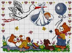 Χειροτεχνήματα: Πελαργοί για κέντημα / Stork cross stitch patterns