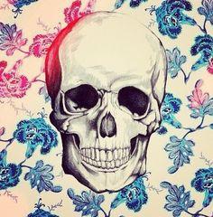 Skull Blue pattern