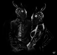 FANTASMAGORIK® BLACK RABBIT MASK by obery nicolas, via Behance