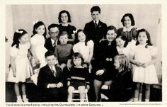 The Quints with family - The Dionne Quints