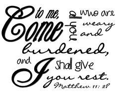 Matthew 11 vs. 28