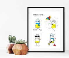 Home decor - Quebec art print - print art - wall art - weather print - print - Quebec daily weather -Quebec illustration by madeinhappy on Etsy Daily Weather, Print Print, Illustrations, Art Prints, Wall Art, Quebec, Handmade Gifts, Montreal, Frame
