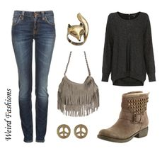 Weird Fashions, Requested: Casual outfit for a grey fringe bag....