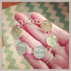 Something Old Something New Vintage Map Charm Bracelet by dlkdesigns, $110.00 #motherofbride