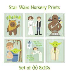STAR WARS Set of 6 Nursery Prints.