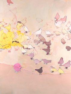 "Misato Suzuki. Strawberry Fields Forever, 2007. 48"" x 36""  Acrylic on Canvas   SOLD"