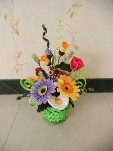 Crocheted Flowers Bouquet from Fiori all'Uncinetto