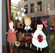 Cute window painting