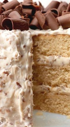 This sweet and moist layer cake is topped with decadent pecan buttercream frosting and is a show-off cake perfect for any special occasion. ❊