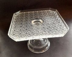 Your place to buy and sell all things handmade Square Cake Stand, Square Cakes, Button Cake, Etsy Vintage, Really Cool Stuff, Favors, Daisy, Shower, Glass
