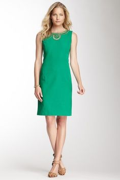 Ellen Tracy Embellished Sleeveless Dress on HauteLook