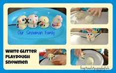 How to Make: White Glitter Playdough
