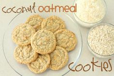 """Coconut Oatmeal Cookies- Another pinner said, """"the hubby's favorite. YUMMY!"""" ***I made these 8-30-12. They were pure comfort food! So moist and chewy in the middle and crisp on the edges. This recipe is a keeper! Made 4-1/2 dozen cookies so could freeze some of the dough for later."""