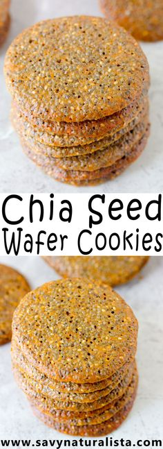 Healthy low calorie chia seed wafer cookies that are super addicting! What Is Healthy Food, Healthy Foods To Make, Healthy Food Habits, Healthy Diet Recipes, Healthy Food Choices, Healthy Meals For Kids, Keto Chia Seed Recipes, Healthy Eating, Cleanse Recipes