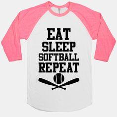 Eat Sleep Softball Repeat