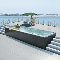 #large outdoor spa pool, #hot tub outdoor swim spa, #12 person hot tubs; could put on swim float