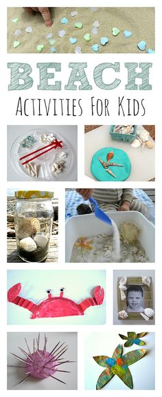 Tons of beach activities for kids!