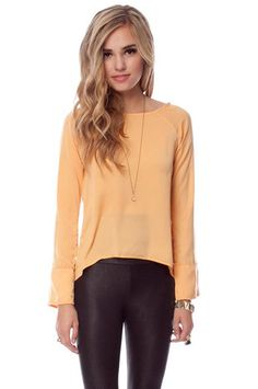 Smooth Move Top in Apricot $22 at www.tobi.com