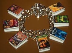 Harry Potter Inspired Book Link Bracelet Stone Goblet Fire Prisoner Deathly Hallows New.