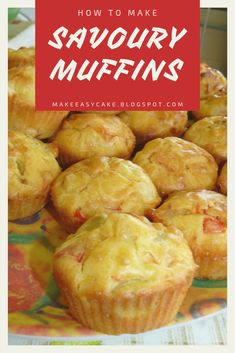Delicious recipe for savoury muffins with your favourite ingredients! #muffins #homemade #baking #recipe