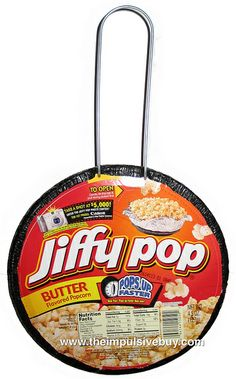 Fun memories with mom in the kitchen: Jiffy Pop!