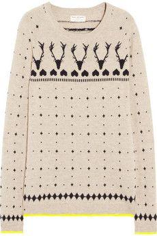 ho-ho-ho! ++ reindeer intarsia cashmere sweater