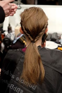 HAIR: Prabal Gurung Fall 2016 backstage beauty #nyfw