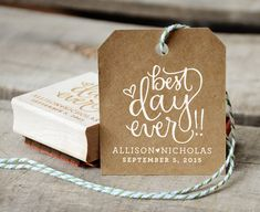 Best Day Ever Rubber Stamp With or Without by YourNewFriendSam