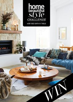 Home Beautiful Style Challenge with Bed Bath N' Table - Winter's Dream Cosy Living Room Decor, Cottage Style Living Room, Winter Living Room, Cozy Living Rooms, My Living Room, Living Room Interior, Living Room Furniture, Cosy Apartment, Apartment Living