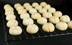 Only 4 ingredients needed to make these bite-sized Italian Almond Cookies-sweet, soft, and chewy-perfect accompaniment to a cup of espresso. White Cookie Recipe, Amaretti Cookie Recipe, Amaretti Cookies, Cookie Desserts, Just Desserts, Cookie Recipes, Delicious Desserts, Dessert Recipes, Yummy Food