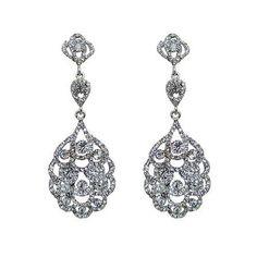 """Boucles d'oreilles chandeliers vintage """"Suzan"""" €50"""