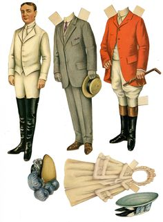 These paper dolls are from The Ladies Home Journal, I would guess about 1902 to 1910