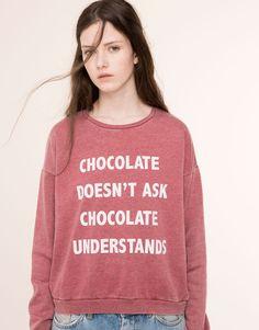 CHOCOLATE SWEATSHIRT - SWEATERS - DAMES - PULL&BEAR Netherlands