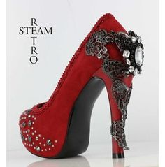 Free Shipping Ladies Steampunk Stiletto Shoes.