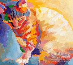 Mona Lisa's Rainbow, painting by artist Kimberly Kelly Santini
